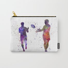 Rugby men players 04 in watercolor Carry-All Pouch