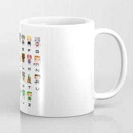 Video Games Pixel Alphabet Coffee Mug