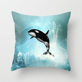 The orca Throw Pillow