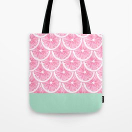 Zesty splice - pink grapefruit Tote Bag