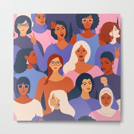 We are Women. We can do it! Metal Print