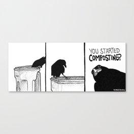 Bird no. 381: Cruel Canvas Print