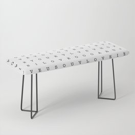 LOVE word search Bench