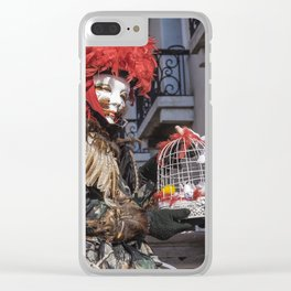 Carnival masks in Venice, Italy Clear iPhone Case