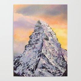 Matterhorn. Sunset. Swiss Alps Poster