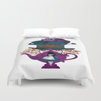 alice wonderland Duvet Covers featuring Wonderland by Vitalitee