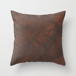 Rusty Rock Stone Wall Throw Pillow
