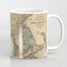 Vintage Massachusetts Railroad Map (1879) Coffee Mug