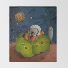 Welcome to mars! Throw Blanket