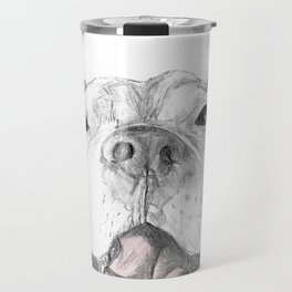 Whaddup :: A Pit Bull Smile Travel Mug