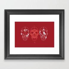 shoes make a skull Framed Art Print