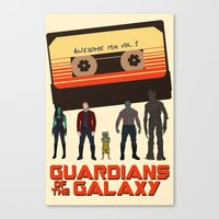 guardians of the galaxy Canvas Prints featuring GUARDIANS OF THE GALAXY by Kaitlin Smith