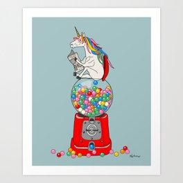 Unicorn Gumball Poop Art Print