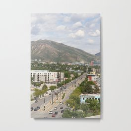 Salt Lake City Street Metal Print