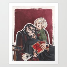 Babysitting - Snape and Draco Art Print