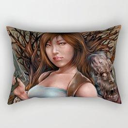 Zombie Assassin Rectangular Pillow