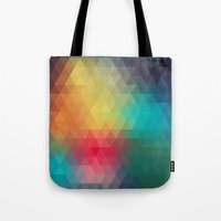reassurance Tote Bags featuring Abstract Geometric Pattern by Rothko