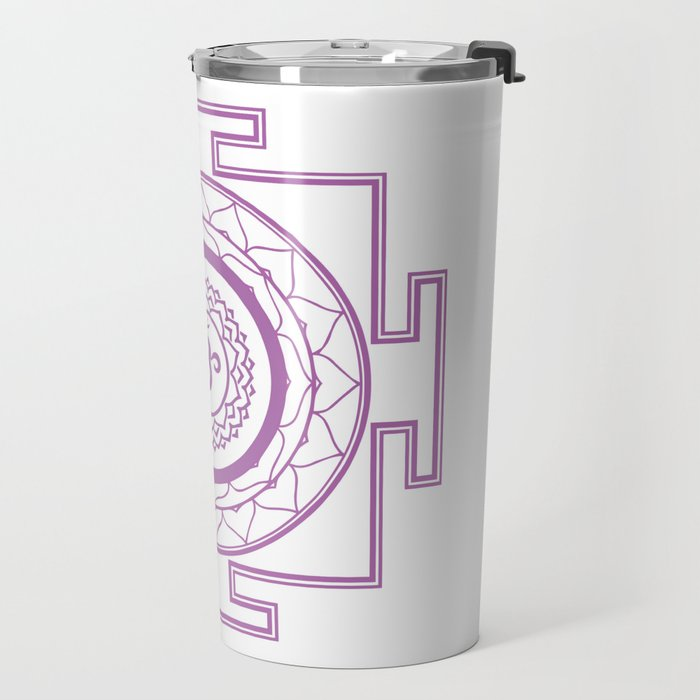 Sri Yantra Crown Chakra Travel Mug