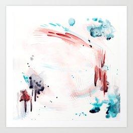 Abstract Watercolor Art Print