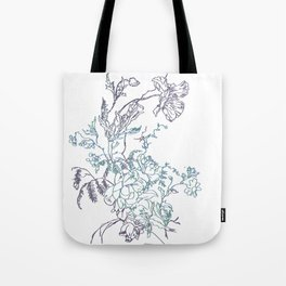 Flowers from an old Paris dish Tote Bag