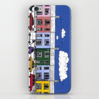marc johns iPhone & iPod Skins featuring St Johns Terrace, Lewes by Richard Ellis