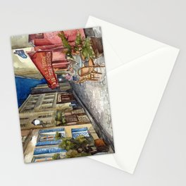 Postcards from Paris - Montmartre by Night: Le Tire-Bouchon Creperie Stationery Cards
