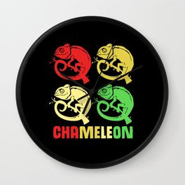 Chameleon Squad Team Family Friends Reptiles Wall Clock