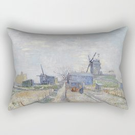 Montmartre - Windmills and Allotments by Vincent van Gogh Rectangular Pillow