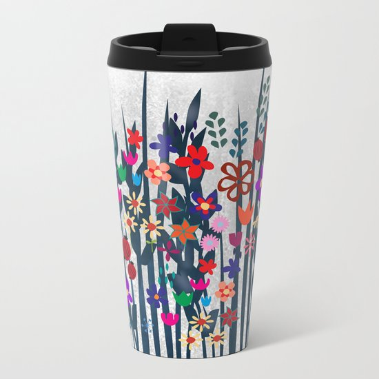 Garden Metal Travel Mug