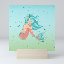 Monster Mermaid Pin-Up Mini Art Print