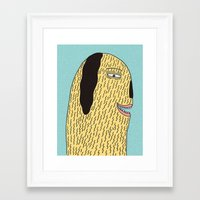 the dude Framed Art Prints featuring Dude by MALKERM