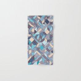 Shifitng Geometric Pattern in Blue Hand & Bath Towel