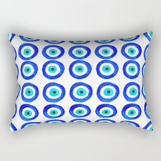 Evil Eye Talisman - on white Rectangular Pillow