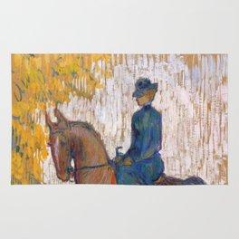 """Henri de Toulouse-Lautrec """"Side-saddle"""" Rug"""