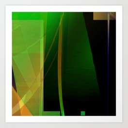 into green Art Print