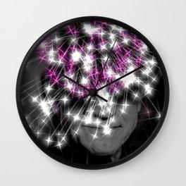 Flashing lights Wall Clock
