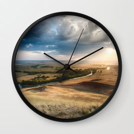 River into the Rain Clouds Wall Clock