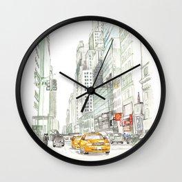 New York City Taxi Wall Clock