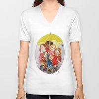 hero V-neck T-shirts featuring Hero by Erika Meza