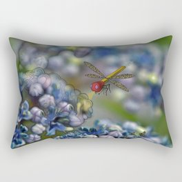 The March hare and the dragonfly in the abyss Rectangular Pillow