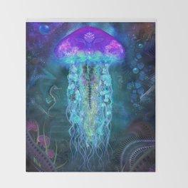 Luminescent Jellyfish Throw Blanket