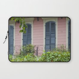 New Orleans Pink Front Porch Laptop Sleeve