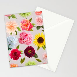 Paper flower pattern Stationery Cards