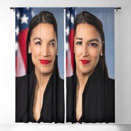 Alexandria Ocasio Cortez Portrait Blackout Curtain