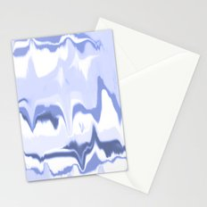 Marbled in ocean Stationery Cards