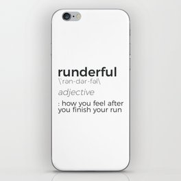 Adrenaline Rush Runner's High Running Is Life Run Design iPhone Skin