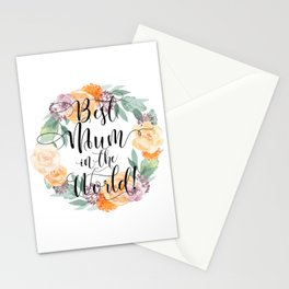 Best Mum in the World! Stationery Cards