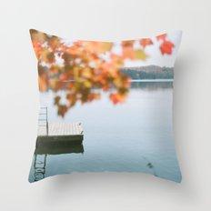 lake side view  Throw Pillow
