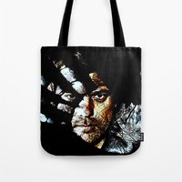 fringe Tote Bags featuring Fringe by D77 The DigArtisT