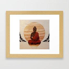 Buddha marquetry Framed Art Print